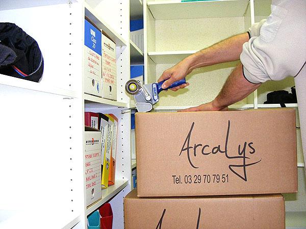 Boites d'archives de documents professionnels
