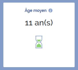 Age moyen des entreprises de Villepinte