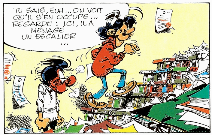 local d'archives : Gaston Lagaffe