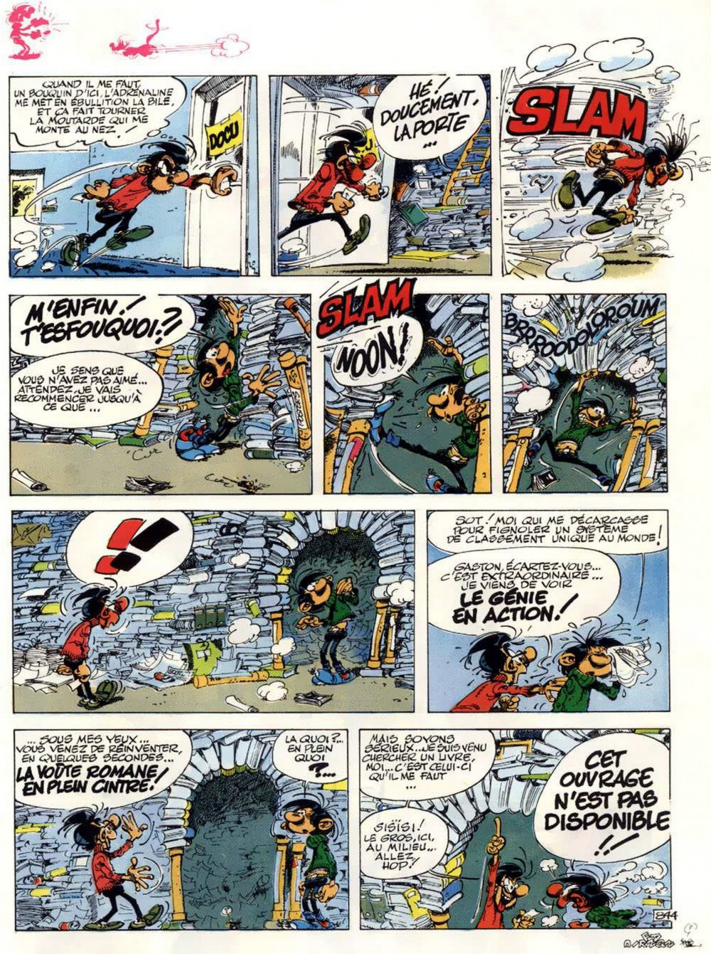Gaston Lagaffe et son local d'archives personnalisé !
