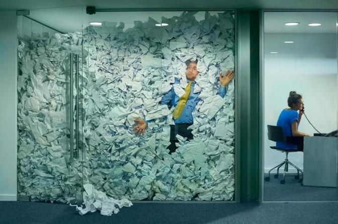Archivage physique en entreprise saturation papiers